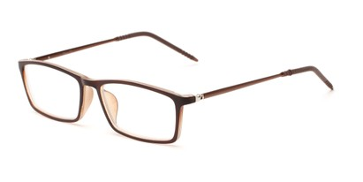 Angle of The Prince in Brown, Women's and Men's Rectangle Reading Glasses