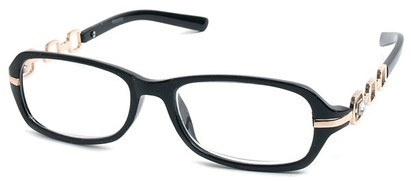 Angle of The Carlene in Black and Gold Frame, Women's and Men's
