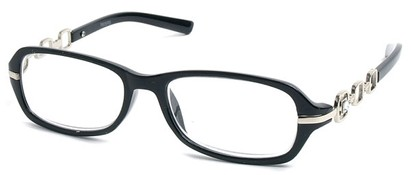 Angle of The Carlene in Black and Silver Frame, Women's and Men's