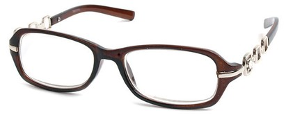 Angle of The Carlene in Brown and Silver Frame, Women's and Men's