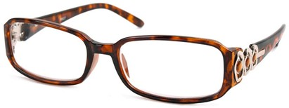 Angle of The Jill in Tortoise/Brown and Silver, Women's and Men's