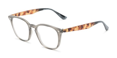 Angle of The Calloway in Grey/Tortoise, Women's and Men's Retro Square Reading Glasses