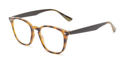 Angle of The Calloway in Tortoise/Brown, Women's and Men's Retro Square Reading Glasses