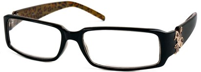 Angle of The LuAnn in Black and Brown Cheetah, Women's and Men's