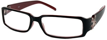 Angle of The LuAnn in Black and Red, Women's and Men's
