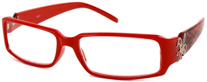 Angle of The LuAnn in Red Cheetah, Women's and Men's