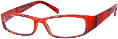 Angle of The India in Red Multi, Women's and Men's Rectangle Reading Glasses