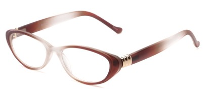 Angle of The Sapphire in Brown/Clear Fade, Women's Cat Eye Reading Glasses