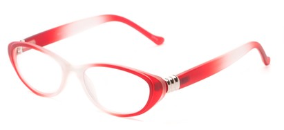 Angle of The Sapphire in Red/Clear Fade, Women's Cat Eye Reading Glasses