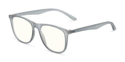 Angle of The Ace Computer Reader in Grey with Light Yellow, Women's and Men's Retro Square Reading Glasses