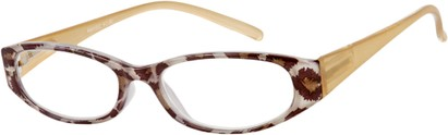 Angle of The Regina in Brown Leopard, Women's and Men's