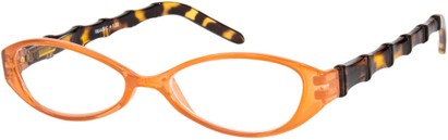 Angle of The Honolulu in Orange Tortoise, Women's and Men's