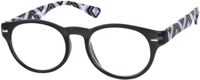 Angle of The Florence in Grey Multi, Women's and Men's Round Reading Glasses