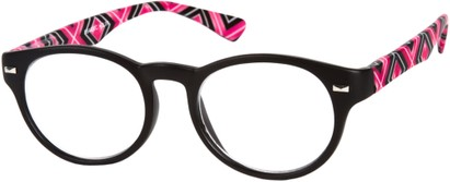 Angle of The Florence in Pink Multi, Women's and Men's Round Reading Glasses