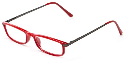 Angle of The Leading Lady in Red/Grey, Women's and Men's Rectangle Reading Glasses