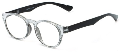 Angle of The Coral in Black, Women's Round Reading Glasses