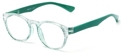 Angle of The Coral in Jade Green, Women's Round Reading Glasses