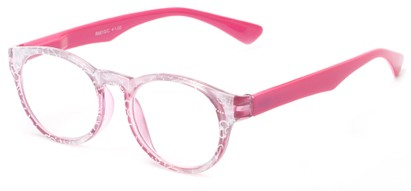 Angle of The Coral in Pink, Women's Round Reading Glasses