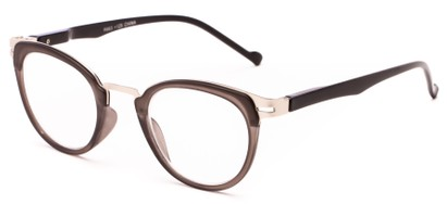 Angle of The Wisteria in Matte Grey/Silver, Women's and Men's Round Reading Glasses