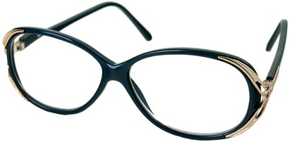 Angle of The Ruthie in Dark Blue, Women's Round Reading Glasses