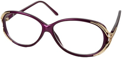 Angle of The Ruthie in Purple, Women's Round Reading Glasses