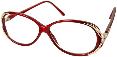 Angle of The Ruthie in Red, Women's Round Reading Glasses