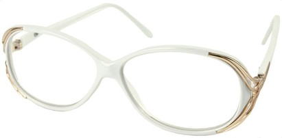 Angle of The Ruthie in White, Women's Round Reading Glasses