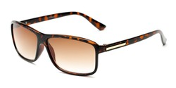 Angle of The Rufus Reading Sunglasses in Glossy Tortoise with Amber, Women's and Men's Rectangle Reading Sunglasses