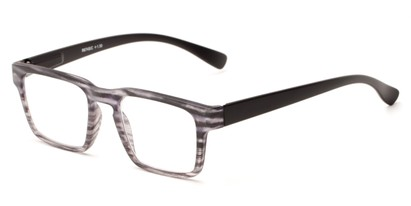 Angle of The Franco in Black, Women's and Men's Square Reading Glasses