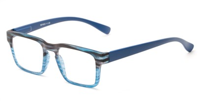 Angle of The Franco in Blue, Women's and Men's Square Reading Glasses