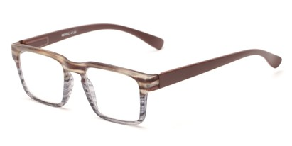 Angle of The Franco in Brown, Women's and Men's Square Reading Glasses