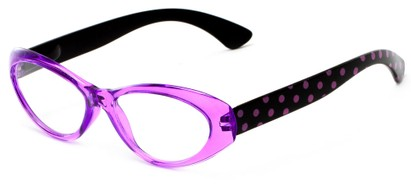 Angle of The Truffle in Purple/Black, Women's Cat Eye Reading Glasses