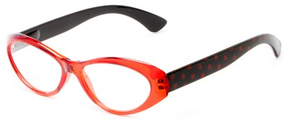 Angle of The Truffle in Red/Black, Women's Cat Eye Reading Glasses