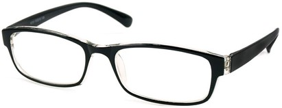 Angle of The Montreal in Black and Clear, Women's and Men's