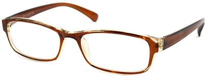 Angle of The Montreal in Brown and Clear, Women's and Men's