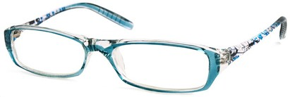 Angle of The Ellen in Blue Floral, Women's and Men's