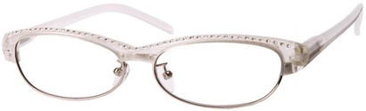 Angle of The Greta in White/Clear, Women's and Men's