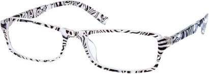Angle of The Clarissa in Zebra, Women's and Men's
