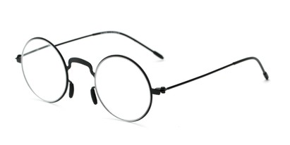 Angle of The Filbert in Matte Black, Women's and Men's Round Reading Glasses