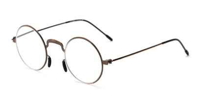 Angle of The Filbert in Glossy Brown, Women's and Men's Round Reading Glasses