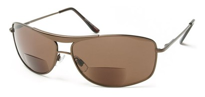 Angle of The Melbourne Bifocal Reading Sunglasses in Bronze, Women's and Men's Aviator Reading Sunglasses