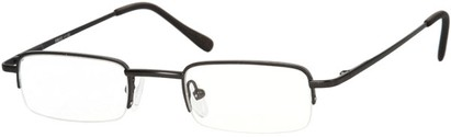 Angle of The Covington in Matte Black, Women's and Men's Rectangle Reading Glasses