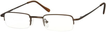 Angle of The Covington in Matte Bronze, Women's and Men's Rectangle Reading Glasses