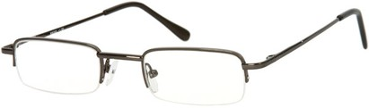 Angle of The Covington in Glossy Grey, Women's and Men's Rectangle Reading Glasses