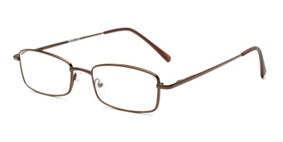 Angle of The Dakota in Glossy Bronze, Men's Rectangle Reading Glasses