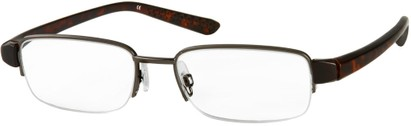 Angle of The Belvedere in Grey/Tortoise, Women's and Men's Rectangle Reading Glasses