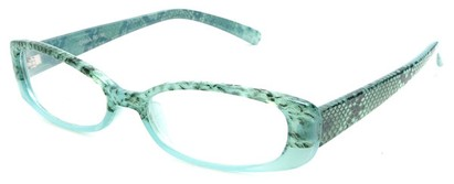 Angle of The Helen Bifocal in Mint Green, Women's Rectangle Reading Glasses
