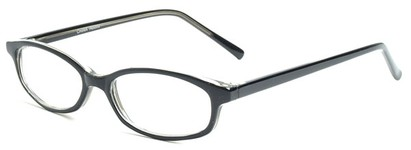 Angle of The Turner in Black, Women's and Men's Oval Reading Glasses