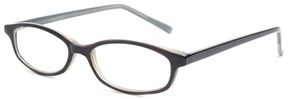Angle of The Turner in Grey, Women's and Men's Oval Reading Glasses