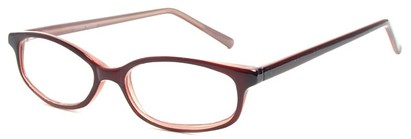 Angle of The Turner in Red, Women's and Men's Oval Reading Glasses